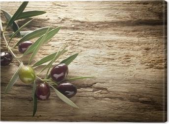 Leinwandbild Oliven