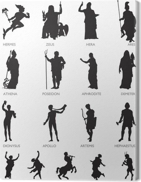 Leinwandbild Olympische Götter und mythologische Figuren • Pixers ...