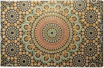 Leinwandbild Oriental Mosaikdekoration in Marokko