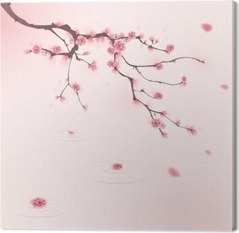 Leinwandbild Orientalischen Stil Malerei, Kirschblüte im Frühjahr