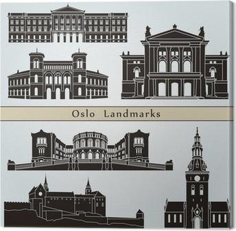 Leinwandbild Oslo Sehenswürdigkeiten und Monumente