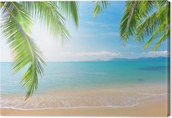 Leinwandbild Palm und tropischen Strand