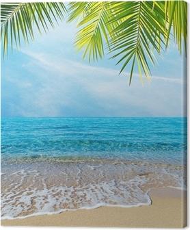 Leinwandbild Palmen am Ufer