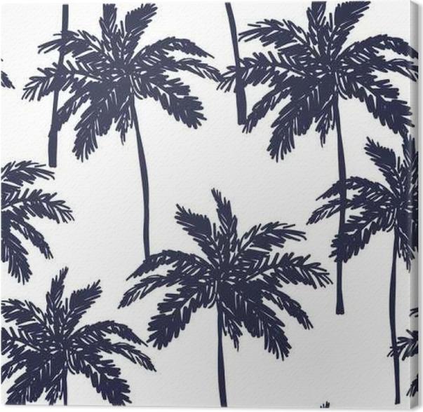 Leinwandbild Palmen Silhouette auf dem weißen Hintergrund. Vektor ...