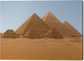 Leinwandbild Panaromic Ansicht von sechs ägyptischen Pyramiden in Giza, Ägypten