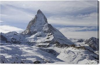 Leinwandbild Panorama-Blick mit Matterhorn