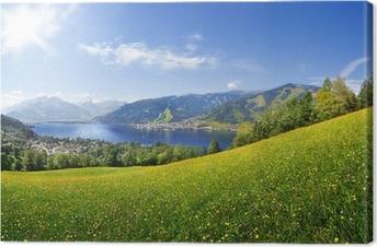 Leinwandbild Panorama Blick über Zell am See, Österreich