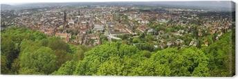 Leinwandbild Panorama-Blick von Freiburg im Breisgau Stadt, Deutschland