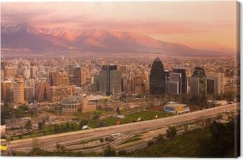 Leinwandbild Panoramablick von Santiago, Chile, Südamerika