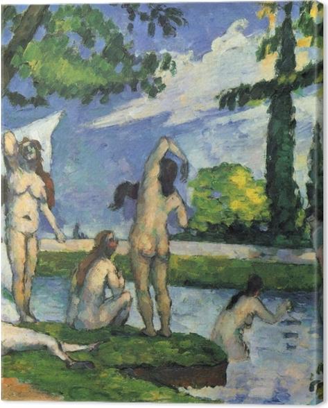 Leinwandbild Paul Cézanne - Badende. Studie - Reproduktion