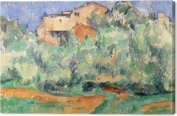 Leinwandbild Paul Cézanne - Das Gehöft von Bellevue mit Taubenschlag