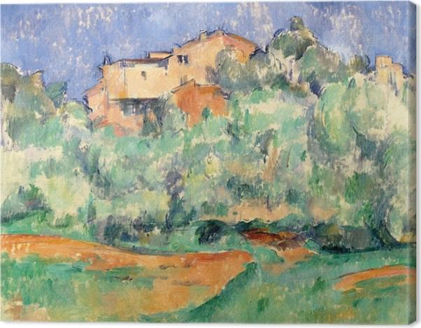 Leinwandbild Paul Cézanne - Das Gehöft von Bellevue mit Taubenschlag - Reproduktion