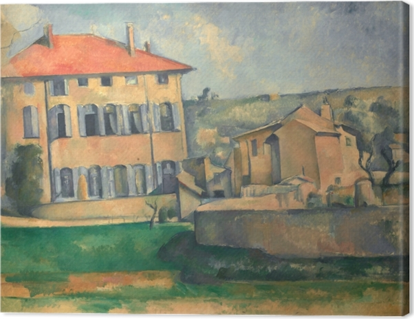 Leinwandbild Paul Cézanne - Das Landgut Jas de Bouffan - Reproduktion