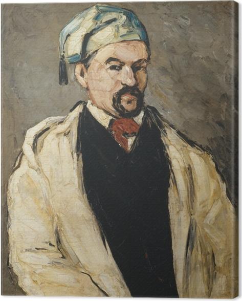 Leinwandbild Paul Cézanne - Der Mann mit der blauen Mütze (Porträt des Onkels Dominique) - Reproduktion