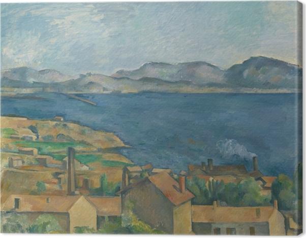 Leinwandbild Paul Cézanne - Die Bucht von Marseille, von L'Estaque aus gesehen - Reproduktion