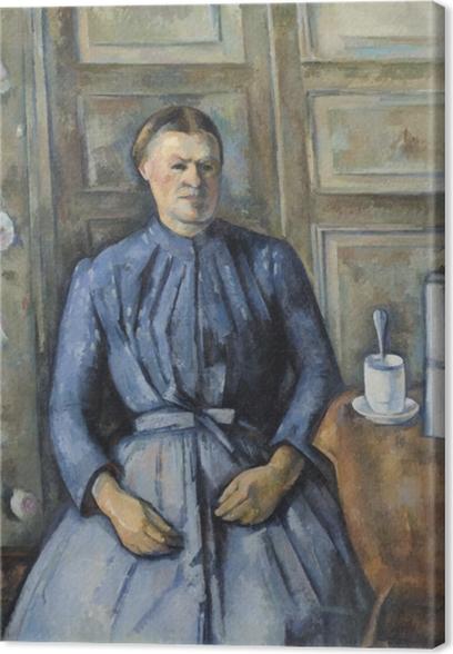 Leinwandbild Paul Cézanne - Die Frau mit Kaffeekanne - Reproduktion