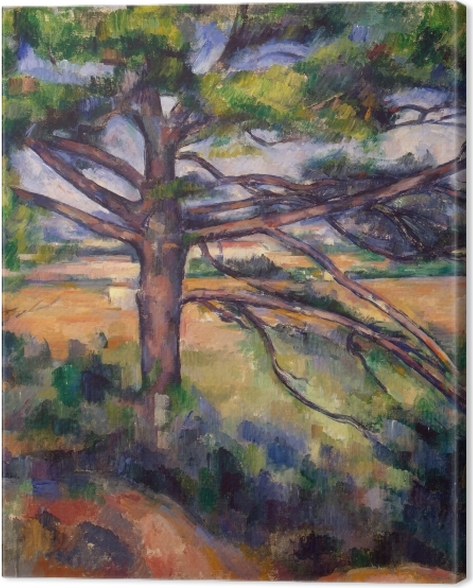 Leinwandbild Paul Cézanne - Die große Kiefer - Reproduktion