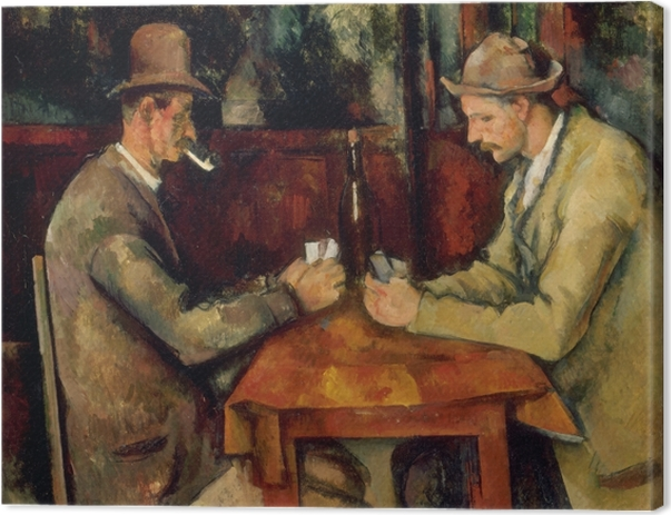 Leinwandbild Paul Cézanne - Die Kartenspieler - Reproduktion