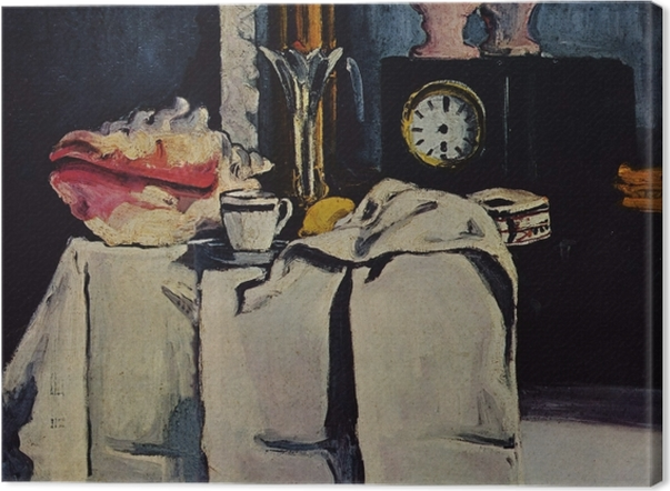 Leinwandbild Paul Cézanne - Die schwarze Marmoruhr - Reproduktion