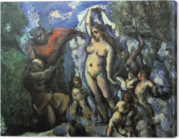 Leinwandbild Paul Cézanne - Die Versuchung des heiligen Antonius - Reproduktion