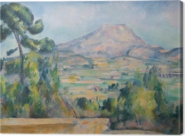 Leinwandbild Paul Cézanne - Montagne Sainte-Victoire - Reproduktion