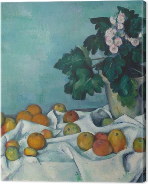 Leinwandbild Paul Cézanne - Obst auf einem Tuch - Reproduktion