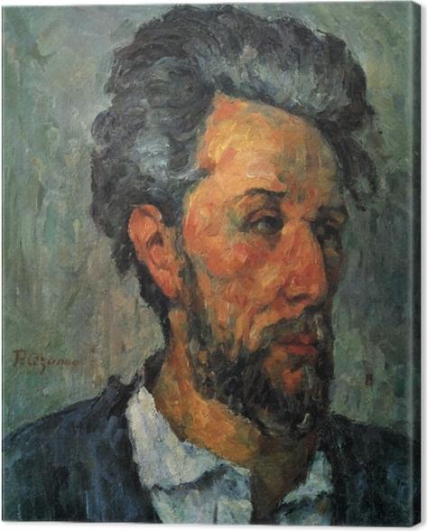Leinwandbild Paul Cézanne - Porträt des Victor Chocquet - Reproduktion