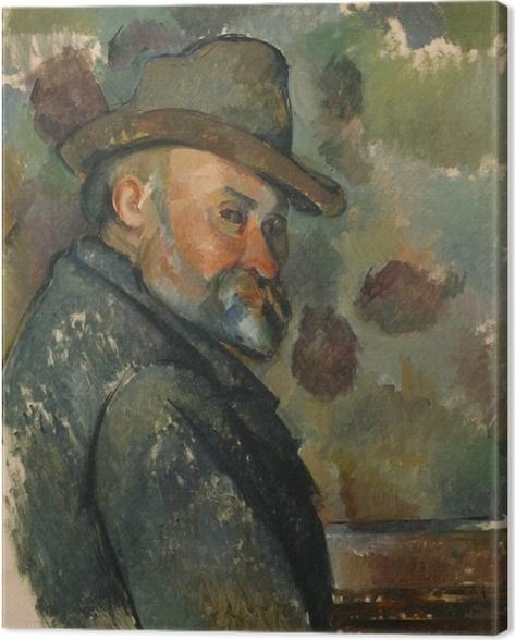 Leinwandbild Paul Cézanne - Selbstporträt - Reproduktion