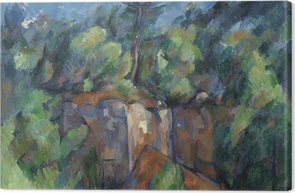 Leinwandbild Paul Cézanne - Steinbruch bei Bibémus - Reproduktion