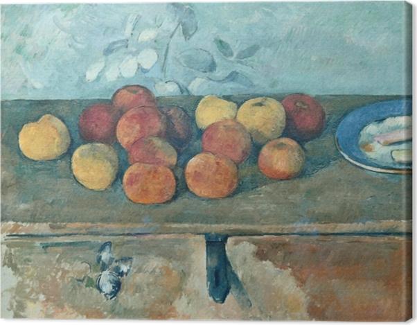 Leinwandbild Paul Cézanne - Stillleben mit Äpfeln und Biskuits - Reproduktion
