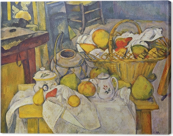 Leinwandbild Paul Cézanne - Stillleben mit Früchtekorb - Reproduktion