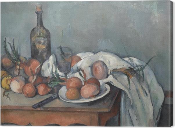 Leinwandbild Paul Cézanne - Stillleben mit Zwiebeln - Reproduktion