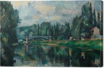 Leinwandbild Paul Cézanne - Ufer der Marne (Brücke über die Marne in Créteil)