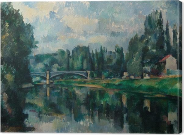Leinwandbild Paul Cézanne - Ufer der Marne (Brücke über die Marne in Créteil) - Reproduktion
