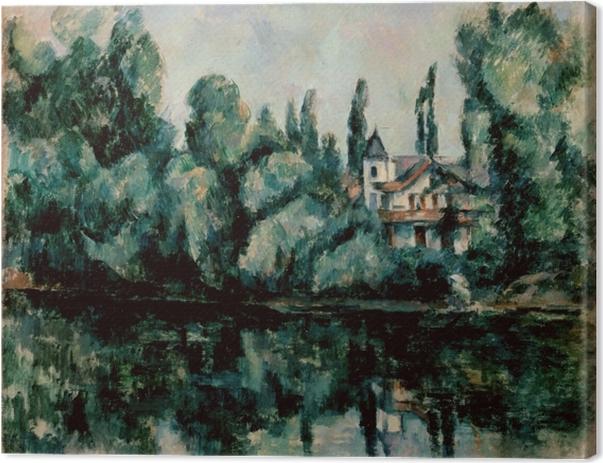 Leinwandbild Paul Cézanne - Ufer der Marne (Villa am Flussufer) - Reproduktion