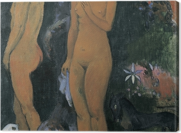 Leinwandbild Paul Gauguin - Adam und Eva - Reproduktion