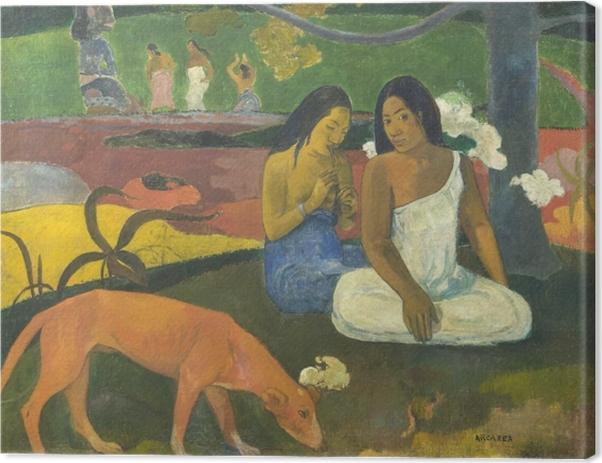 Leinwandbild Paul Gauguin - Arearea - Reproduktion