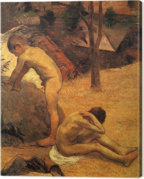 Leinwandbild Paul Gauguin - Badende bretonische Knaben - Reproduktion
