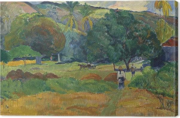 Leinwandbild Paul Gauguin - Das Tal - Reproduktion