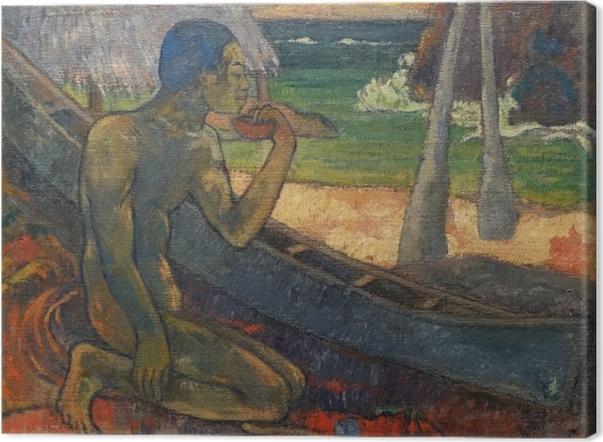Leinwandbild Paul Gauguin - Der arme Fischer - Reproduktion