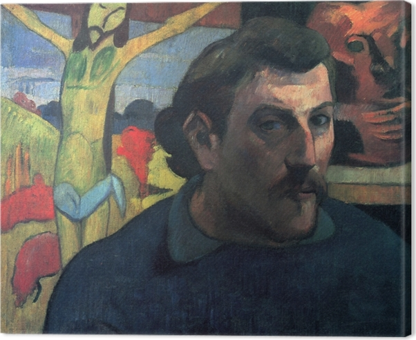 Leinwandbild Paul Gauguin - Der gelbe Christus - Reproduktion