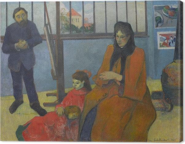Leinwandbild Paul Gauguin - Die Familie Schuffenecker - Reproduktion