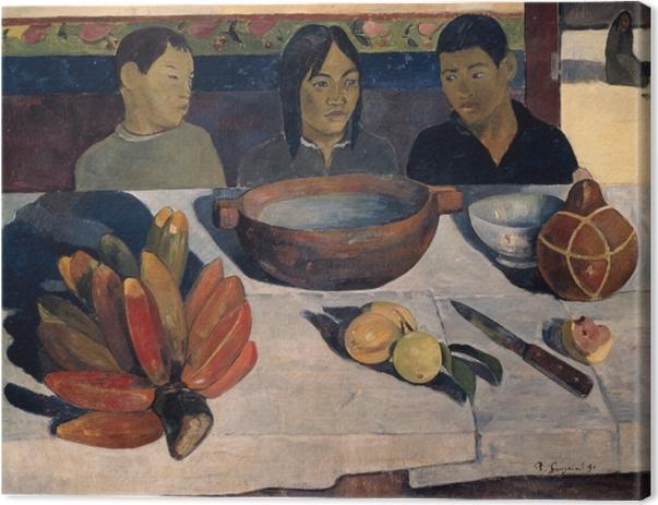 Leinwandbild Paul Gauguin - Die Mahlzeit (Die Bananen) - Reproduktion