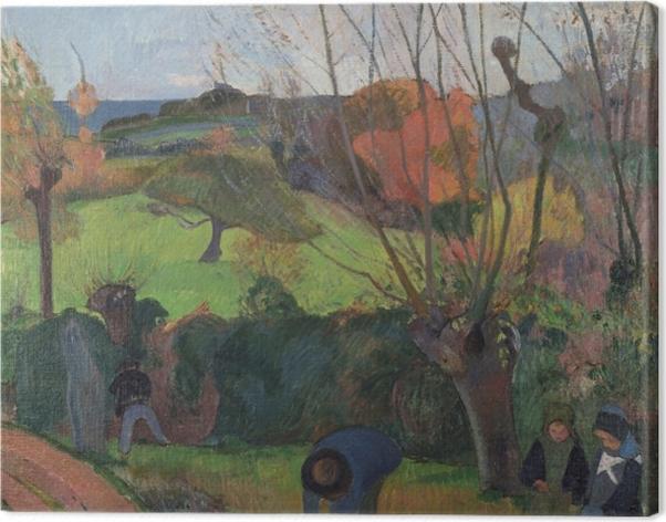 Leinwandbild Paul Gauguin - Die Weiden - Reproduktion