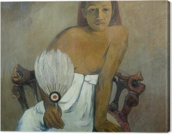 Leinwandbild Paul Gauguin - Frau mit Fächer - Reproduktion