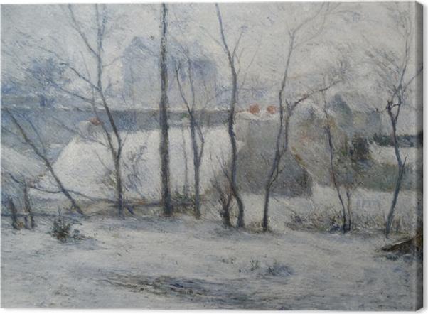 Leinwandbild Paul Gauguin - Garten unter Schnee - Reproduktion