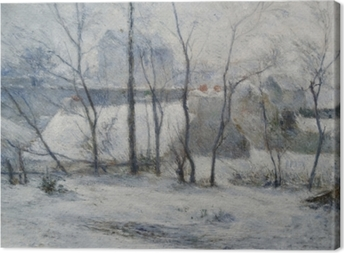 Leinwandbild Paul Gauguin - Garten unter Schnee