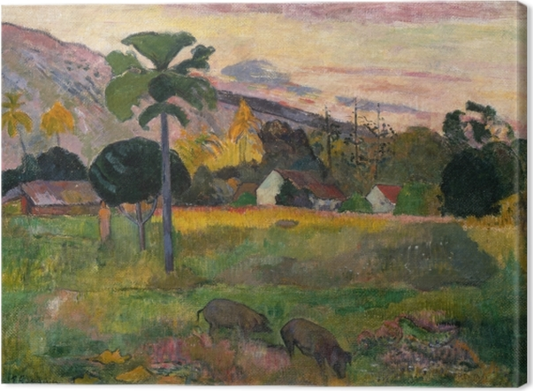 Leinwandbild Paul Gauguin - Haere Mai (Komm her) - Reproduktion