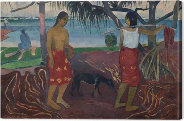Leinwandbild Paul Gauguin - I raro te oviri (Unter dem Pandanus) - Reproduktion
