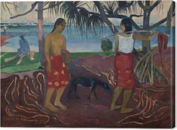 Leinwandbild Paul Gauguin - I raro te oviri (Unter dem Pandanus)